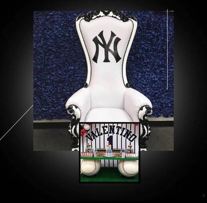 Baseball Throne Chair Yankees