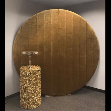 Velvet Round Gold Wall