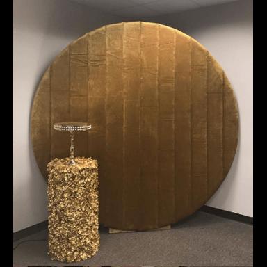 Wall Round Velvet Gold
