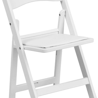Kids Cushioned Folding Resin Chair White