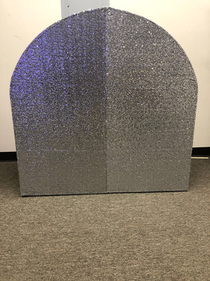 Arch Wall Silver Sequin