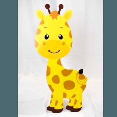 Baby Giraffe Wood Cutout 3 ft Tall