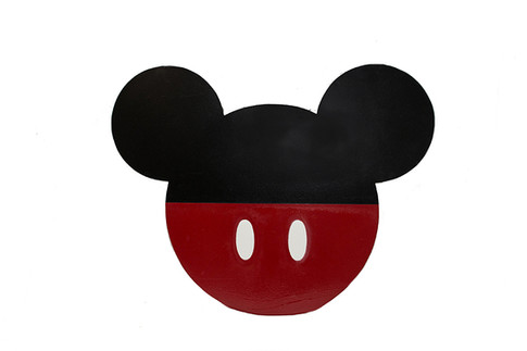 WOOD BACKDROP PROP MICKEY MOUSE BLK RED