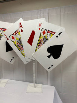 Poker Card Centerpieces