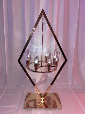 Diamond Chandelier Centerpiece Gold 48x2