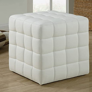 Club Cube Ottoman White