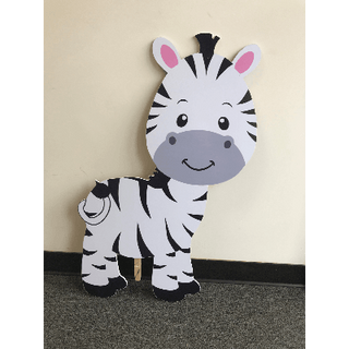Baby Zebra Wood Cutout 3ft