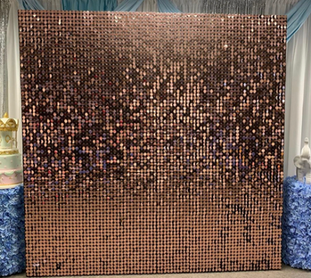 Sequin Shimmer Square Wall Rose Gold