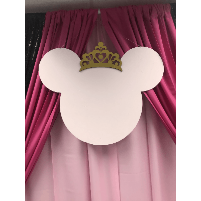 MINNIE MOUSE FACE WITH CROWN BACKDROP PR