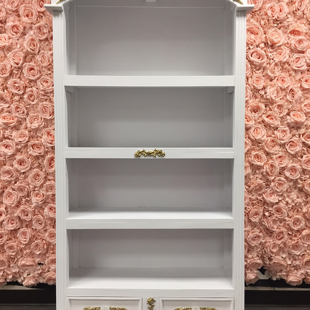 Cabinet Victorian White Gold