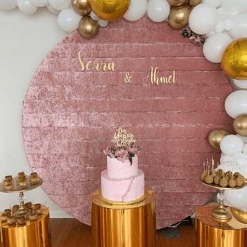 Velvet Round Blush Wall