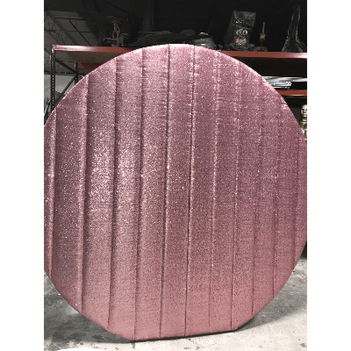Sequin Round Pink Wall
