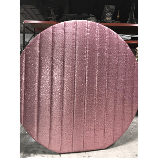 Wall Round Sequin Pink Wall
