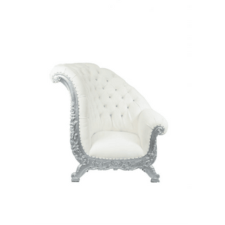 White Silver Angled Throne $450