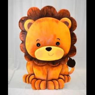 Baby Lion 3D Floor Prop 4ft Tall