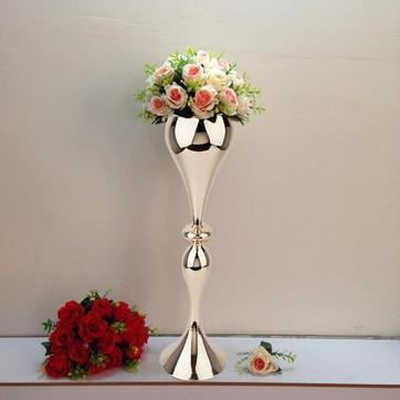 Vase Trumpet 25 inch Gold