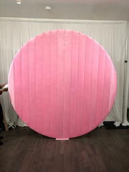 Velvet Round Pink Wall