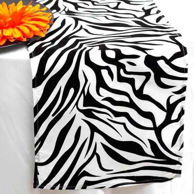 Zebra Print Runner blk_wht