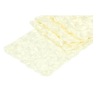 Mini Rosette Table Runner Ivory