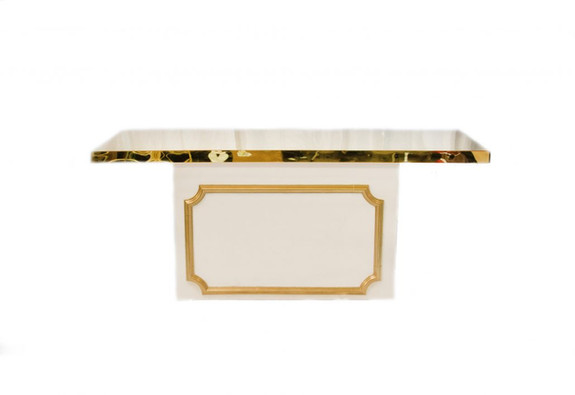 Dessert Table Gold Top