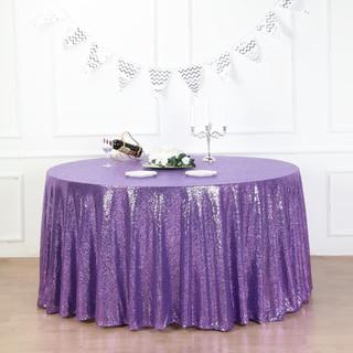 Sequin Tablecloth Purple