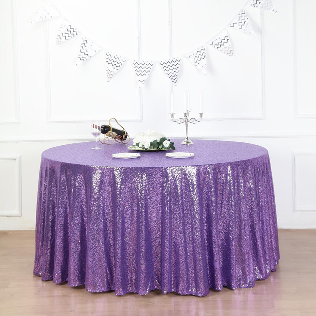 Sequin Tablecloth Purple