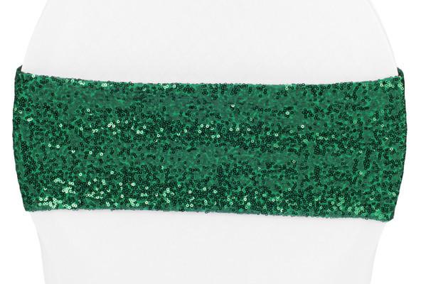 Emerald Green Sequin Sash