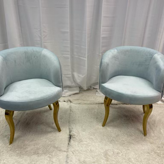 Lounge Chair Baby Blue Tufter with Rhine