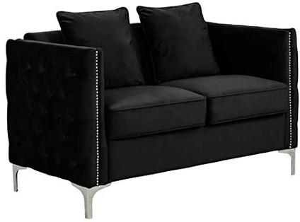 Double Modern Velvet Black