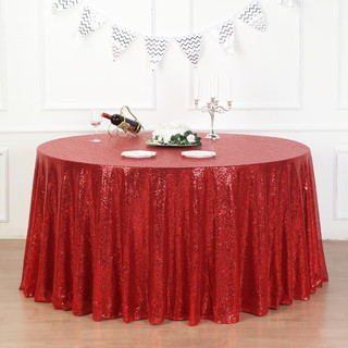 Sequin Tablecloth Red