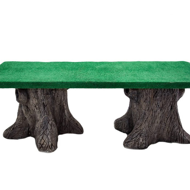 Tree Trunk Table Grass Top