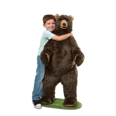 Winter Stuffed Animal Grizzly Bear Standning