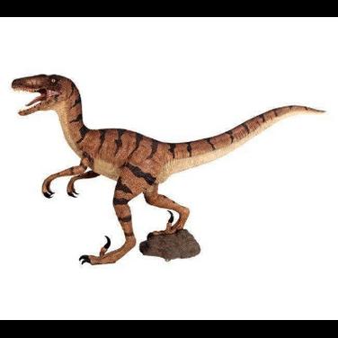 Dinosaur Velociraptor Standing Brown Sta