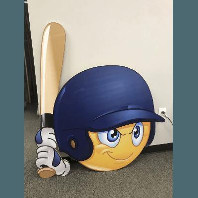 Baseball Player Emoji Figure