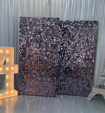 Sequin Shimmer Square Pink Wall