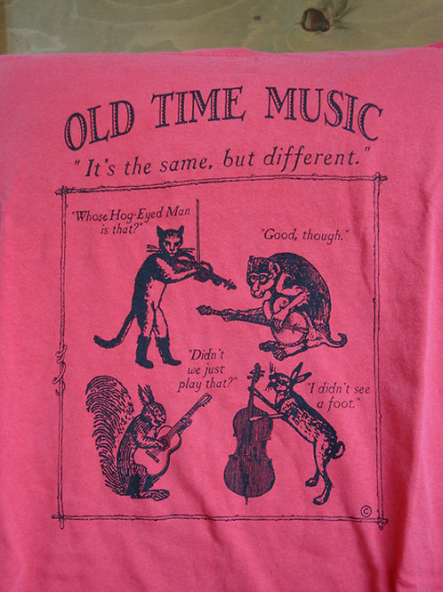 Old Time music animals t-shirt