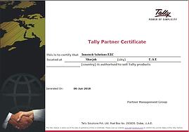 Tally Partner Certificate