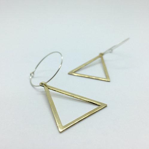 Pendientes Aro Triángulo