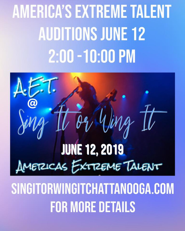 AMERICAS EXTREME TALENT SINGING COMPETITION AUDITIONS
