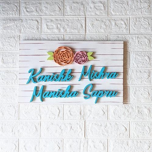 Rectangular Nameplate Floral
