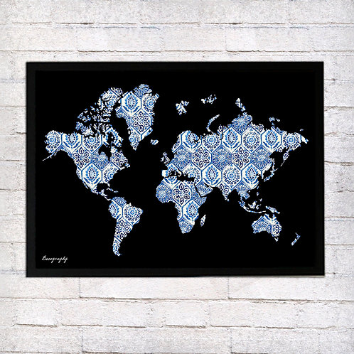 World Map magnet board
