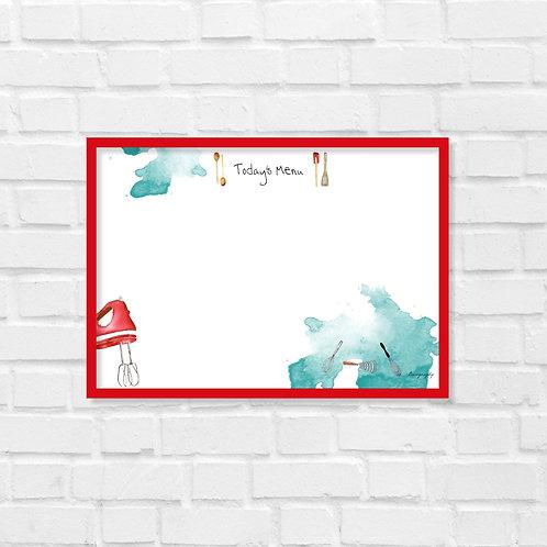 Write and erase - Today's Menu  - White board