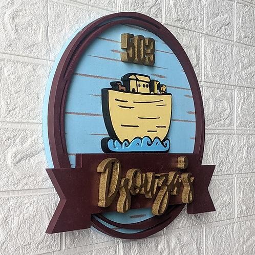 Circular Nameplate Ship