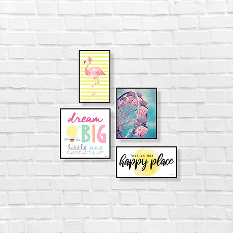 This is our happy place , lively and happy bright wall decor.