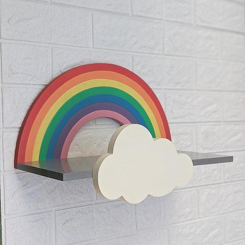 Floating Rainbow Shelf