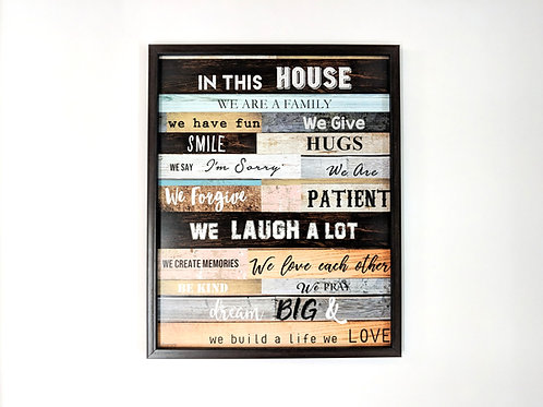 In this house -  Art frame
