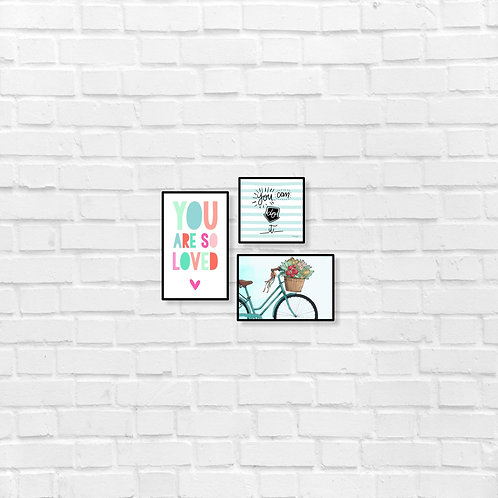 You are so loved - you can do it - art frames