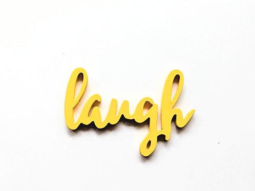 Laugh- 3D word