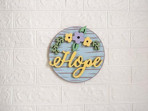 Hope 3D handmade wall decor