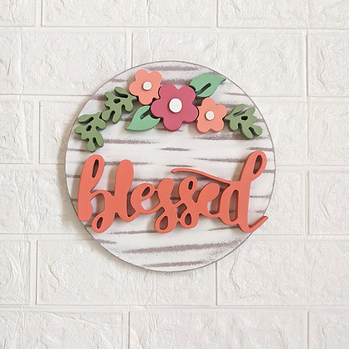 Blessed 3D handmade wall decor